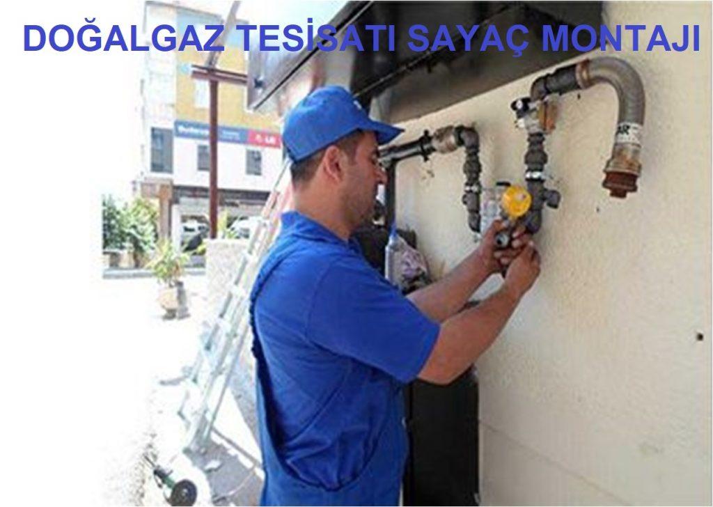 doğalgaz tesisatı sayaç montajı abonelik projesi